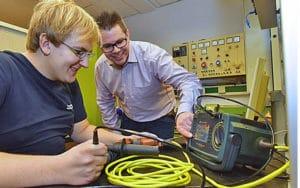 Elektrische Maschinen werden regelmäßig überprüft – für sicheres Arbeiten.