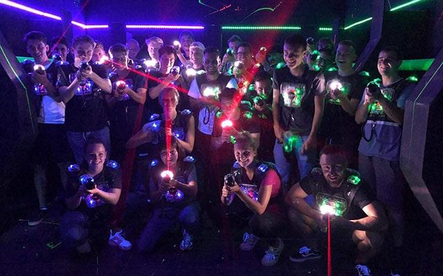 Lasertag beim Ausbildungsworkshop