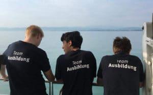 Bootsfahrt auf dem Bodensee beim Ausbildungsworkshop